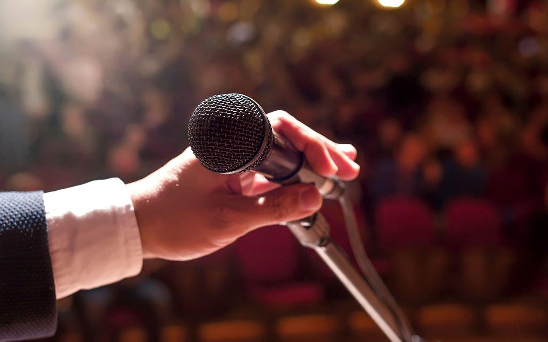 speak in public